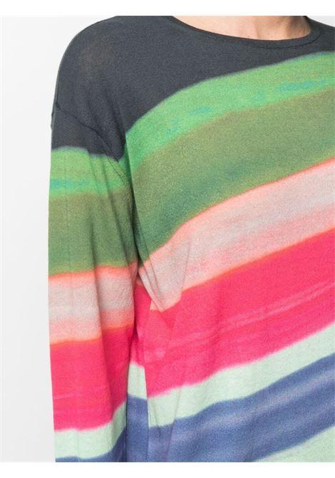 Maglione color block Navigator in misto cotone multicolore verde DRIES VAN NOTEN | T-shirt | NAVIGATOR PR-2708-11244900