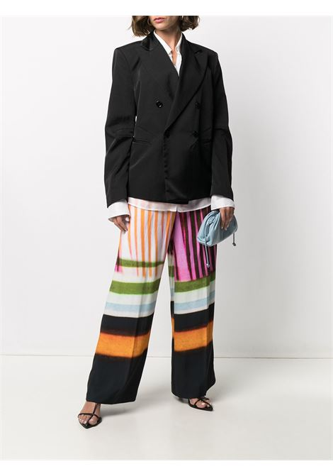 Black and multicolour cotton blend mixed-print palazzo pants DRIES VAN NOTEN |  | PUVIS-2048-10969900