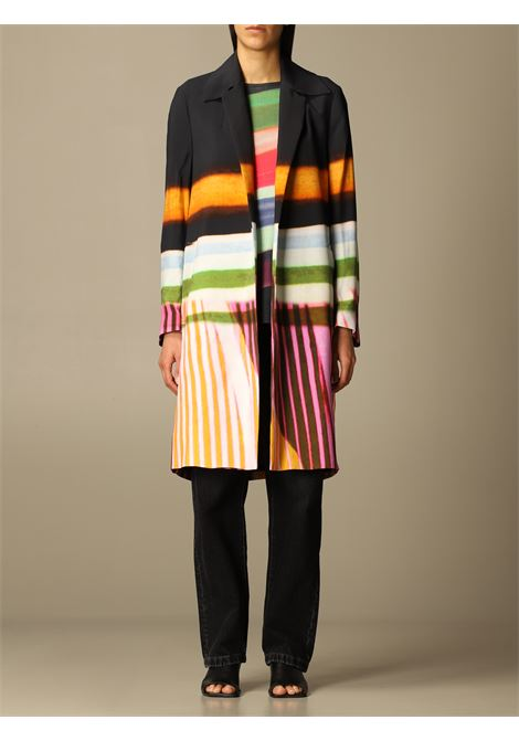 Cappotto midi nero e multicolore Rolta DRIES VAN NOTEN | Cappotti | ROLTA-2048-10232900