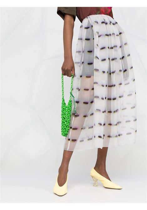 White silk layered high-waisted skirt  DRIES VAN NOTEN |  | SAKURA-2085-10803001