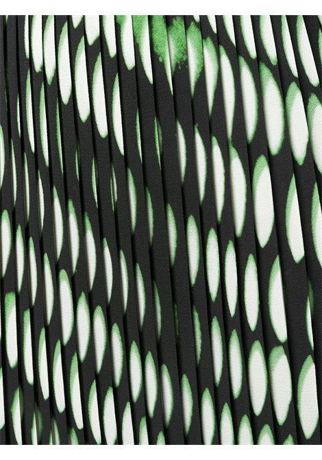 Black and neon green Sarea geometric-print pleated skirt  DRIES VAN NOTEN |  | SAREAN BIS-2010-10820900