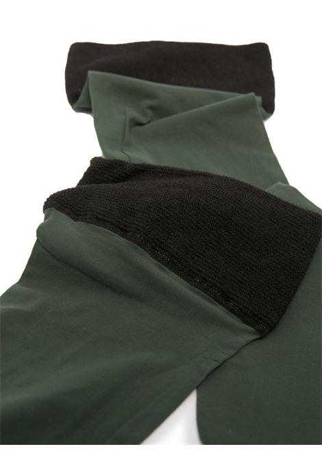 Calzini con polsini a contrasto verde militare e nero DRIES VAN NOTEN | Calze | SOCKS211-040-11901605