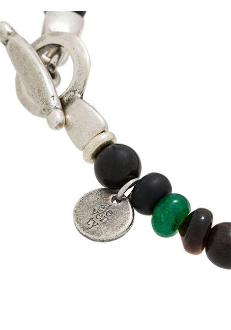 Bracciale di perline marroni e verdi multicolore ELEVENTY | Bracciale | 979BR0084-BRA2700207
