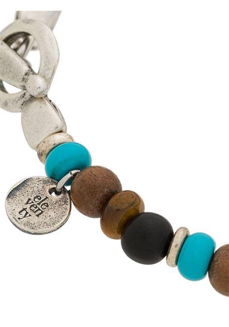 Bracciale con perline marroni e azzurre multicolore ELEVENTY | Bracciale | 979BR0084-BRA2700208