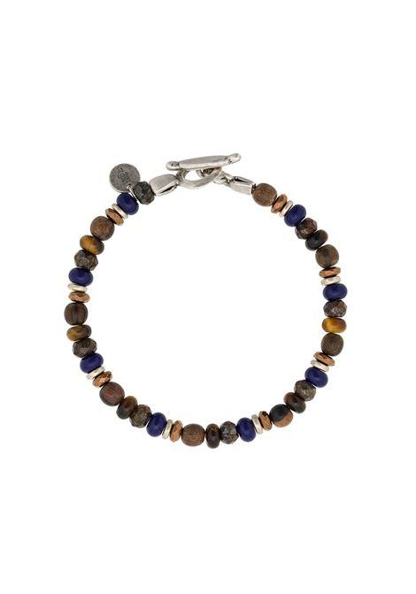 Bracciale marrone con perline blu scuro ELEVENTY | Bracciale | 979BR0084-BRA2700211