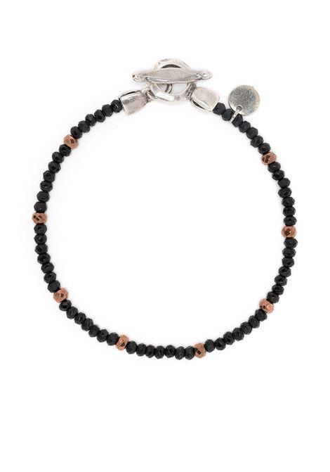 Bracciale in ottone con pietre nere ELEVENTY | Bracciale | 979BR0086-BRA2800322