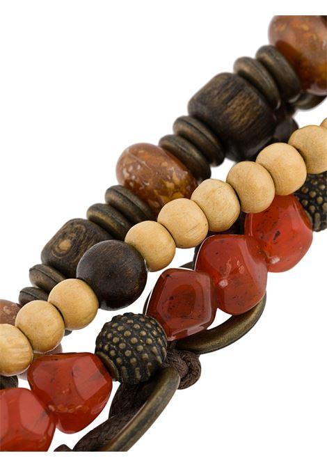 Bracciale con ciondoli marrone e rosso con logo Eleventy ELEVENTY | Accessori | A80BRAA02-ACC0A00609