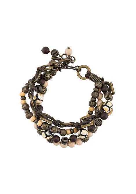 Bracciale con perline multicolori in ottone e vetro ELEVENTY   Accessori   A80BRAA03-ACC0A00702