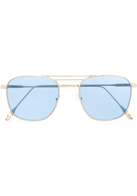 Occhiali da sole rotondi in metallo color oro e lenti azzurre ELEVENTY | Occhiali | B72OCCB02-OCC0B00211