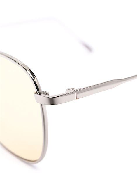 Occhiali da sole rotondi in metallo color argento con lenti giallo chiaro ELEVENTY | Occhiali | B72OCCB02-OCC0B00228
