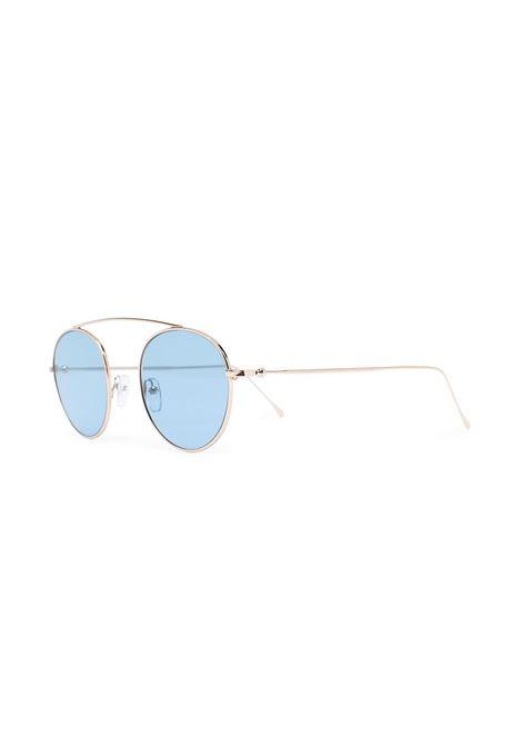 Occhiali da sole con montatura aviator color oro e lenti colorate celesti ELEVENTY | Occhiali | B72OCCBB01-OCC0B00111