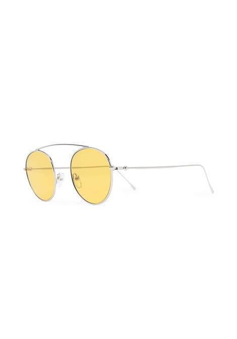 Gold aviator frame sunglasses featuring yellow tinted lenses ELEVENTY |  | B72OCCBB01-OCC0B00128