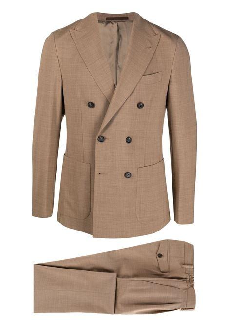 Abito doppiopetto  in lana elasticizzata color cammello ELEVENTY | Abiti | C70ABUB01-TES0A05304