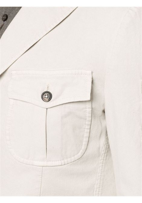 Cream stretch-cotton blend multi-pocket single-breasted suit ELEVENTY |  | C70ABUC04-TET0C03102