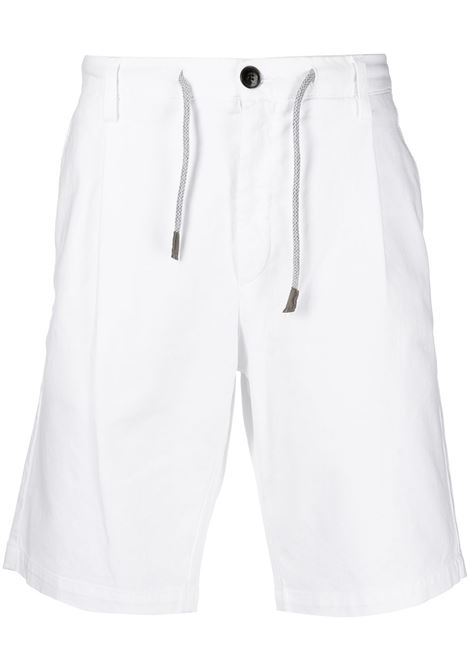 White cotton striped trim drawstring shorts  ELEVENTY |  | C70BERC01-TET0C02800