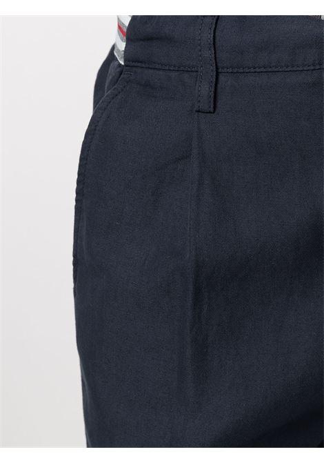 Shorts blu navy in lino e cotone con coulisse in vita ELEVENTY | Bermuda | C70BERC01-TET0C02911