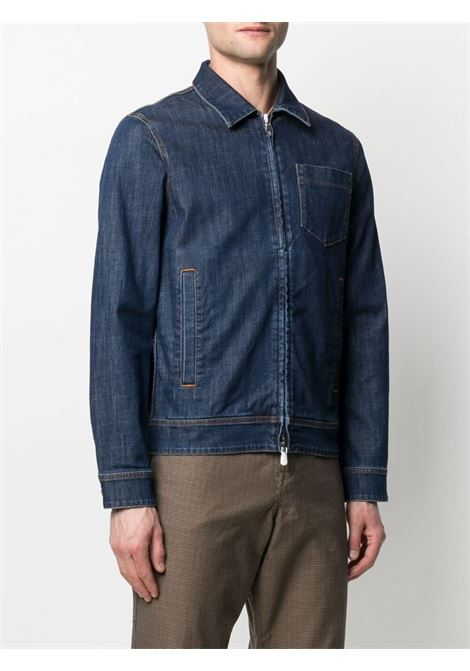 Blue stretch cotton slim-fit denim jacket   ELEVENTY |  | C70GBTC12-TET0C02608