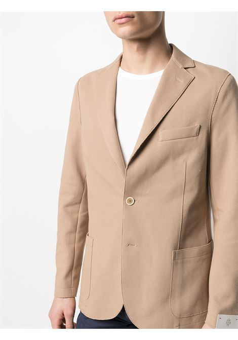 Beige cotton-blend notch-lapel single-breasted blazer  ELEVENTY |  | C70GIAA01-JAC2500104