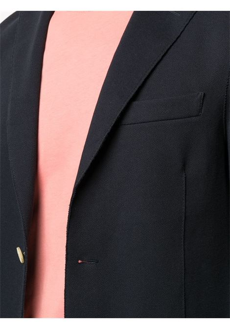 Blazer monopetto con rever classico in misto cotone blu scuro ELEVENTY | Giacche | C70GIAA01-JAC2500111S