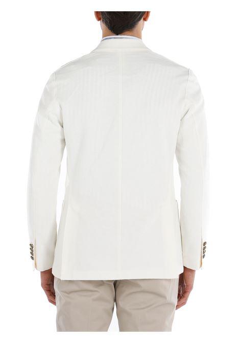 Blazer doppiopetto bianco con due tasche davanti ELEVENTY | Giacche | C70GIAA02-JAC2500101