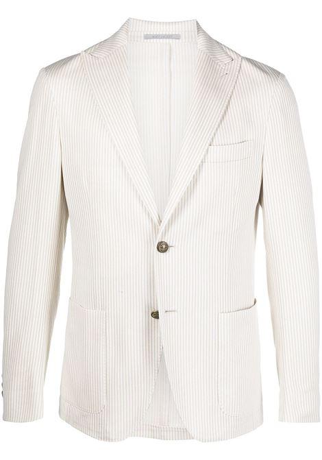 Off white cotton striped single-breasted blazer   ELEVENTY |  | C70GIAA05-TES0C11602