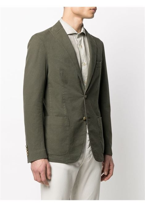 Olive green cotton-blend single-breasted blazer  ELEVENTY |  | C70GIAA05-TET0C03107