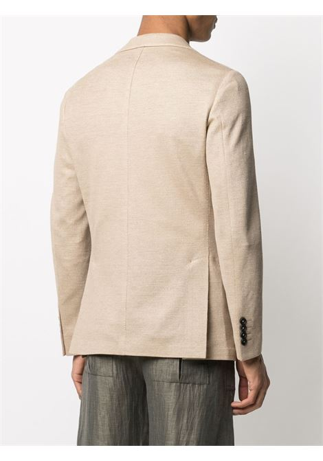 Blazer sartoriale in lino beige con revers a lancia ELEVENTY | Giacche | C70GIAB04-TES0C11704