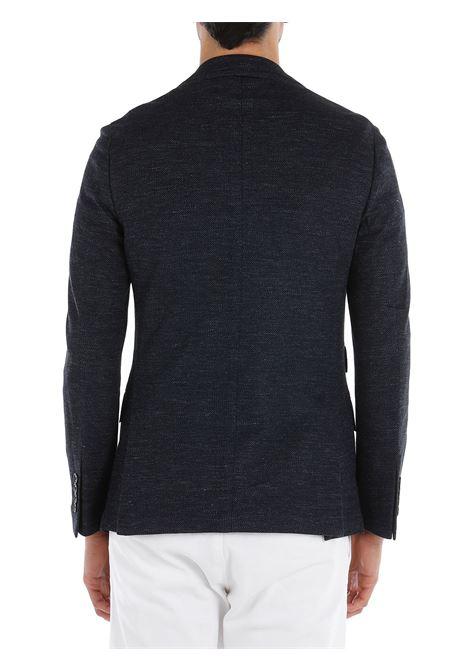 Blue cotton-linen blend single-breasted blazer  ELEVENTY |  | C70GIAB04-TES0C11711