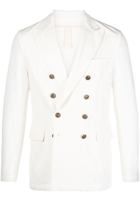 White cotton blend double-breasted blazer  ELEVENTY |  | C70GIAB08-JAC2500101