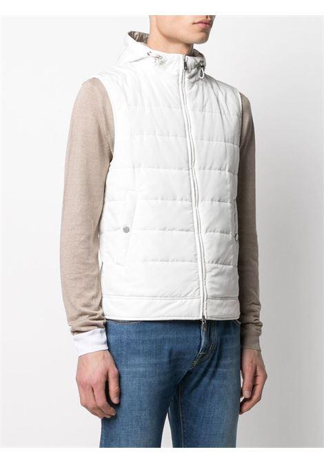 Gilet imbottito bianco con cappuccio ELEVENTY | Gilet | C70GILC02-TS0C19201