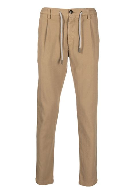 Camel-brown stretch-cotton mid-rise slim-fit trousers  ELEVENTY |  | C70PANC01-TET0C02804
