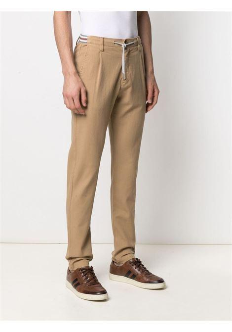 Camel-brown stretch-cotton mid-rise slim-fit trousers  ELEVENTY |  | C70PANC01-TET0C02804