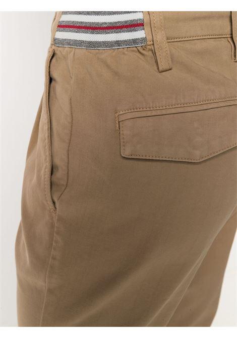 Pantaloni slim fit a vita media in cotone elasticizzato color cammello ELEVENTY | Pantaloni | C70PANC01-TET0C02804