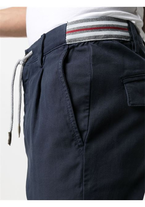 Navy-blue stretch-cotton mid-rise slim-fit trousers  ELEVENTY |  | C70PANC01-TET0C02811