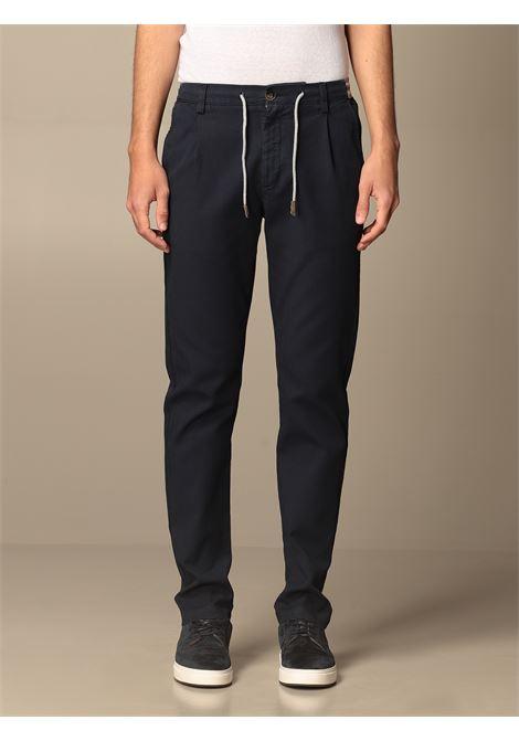 Navy-blue stretch-cotton mid-rise slim-fit trousers  ELEVENTY |  | C70PANC01-TET0C02811