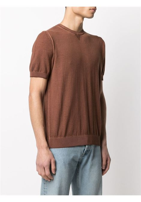 Camel brown cotton short-sleeve knitted t.shirt  ELEVENTY |  | C71MAGC04-MAT0C00204
