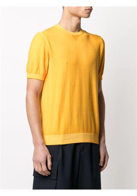 T-shirt in maglia a maniche corte in cotone giallo banana ELEVENTY | Maglieria | C71MAGC04-MAT0C00228