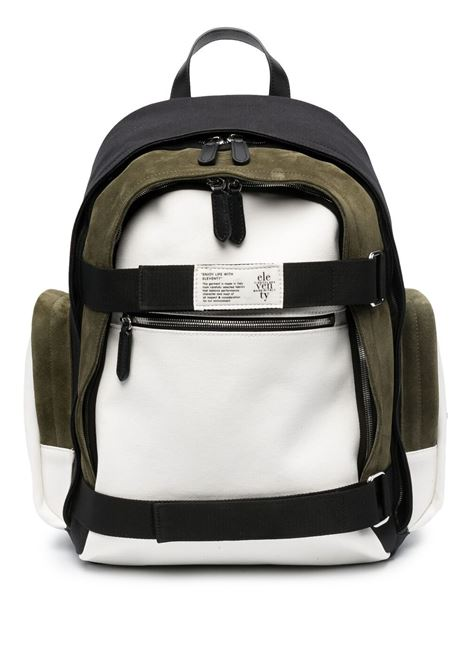 Bright white,black and khaki green cotton backpack  ELEVENTY |  | C72BORC05-TES0C017010722
