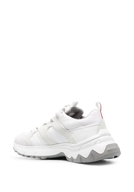 White leather and suede lace-up low-top sneakers  ELEVENTY |  | C72SCNC06-SCA0C01901