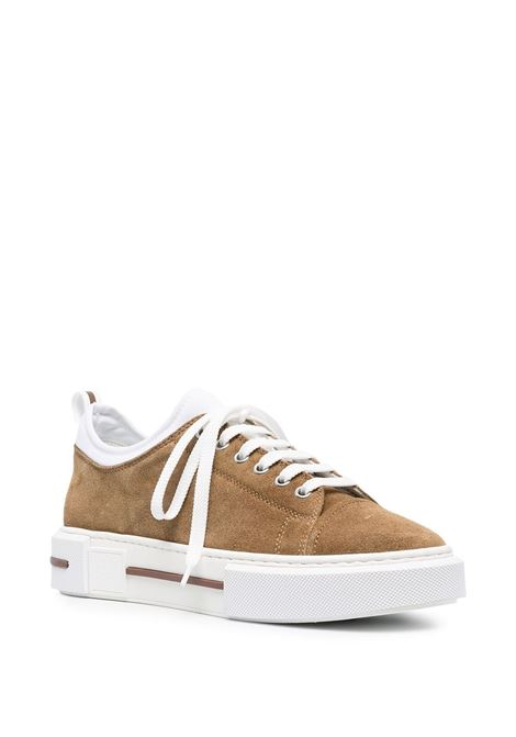 Brown and white suede and leather and rubber colour-block sneakers  ELEVENTY |  | C72SCNC09-SCA0C02103