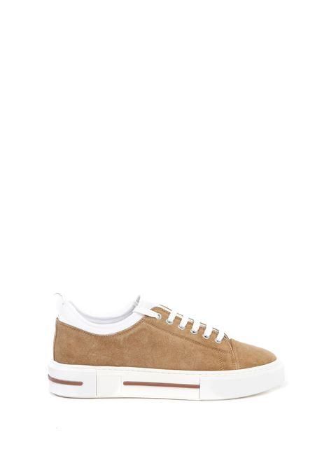 Sneakers marroni e bianche in camoscio ELEVENTY | Stringate | C72SCNC09-SCA0C02103