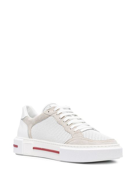 White leather perforated low-top sneakers featuring red detailing ELEVENTY |  | C72SCNC11-SCA0C02401