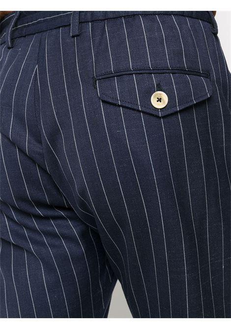 Abito monopetto in lana vergine blu con motivo gessato ELEVENTY | Abiti | C75ABUC10-TES0C08211