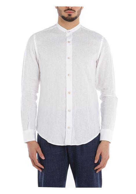 Camicia a maniche lunghe in lino bianco con colletto classico ELEVENTY | Camicie | C75CAMA05-TES0A00101