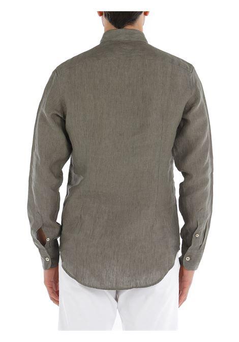 Camicia button down in lino verde ELEVENTY | Camicie | C75CAMA05-TES0A00107