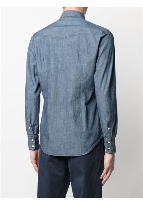 Medium blue cotton long-sleeve denim shirt  ELEVENTY |  | C75CAMA09-TES0A16008