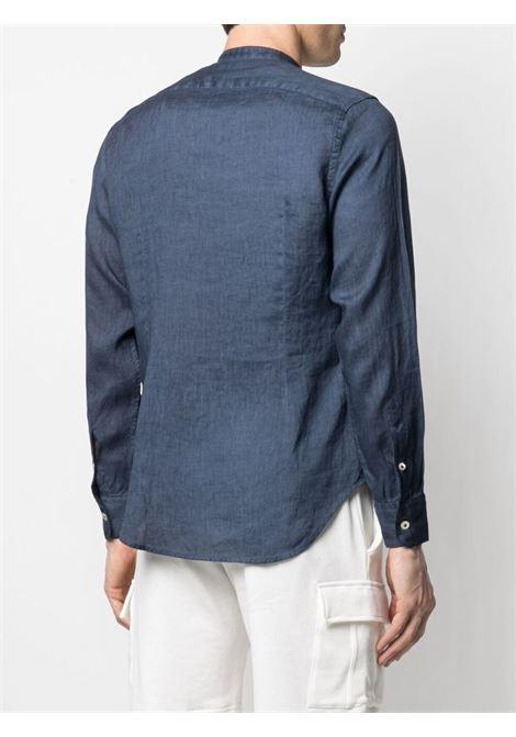 Blue linen band collar shirt  ELEVENTY |  | C75CAMA10-TET0A01811N