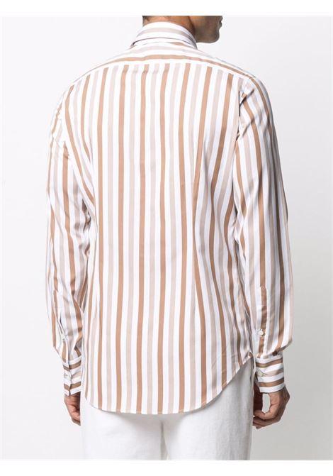 Brown cotton striped cotton shirt featuring vertical stripe pattern ELEVENTY |  | C75CAMA18-TES0C06305