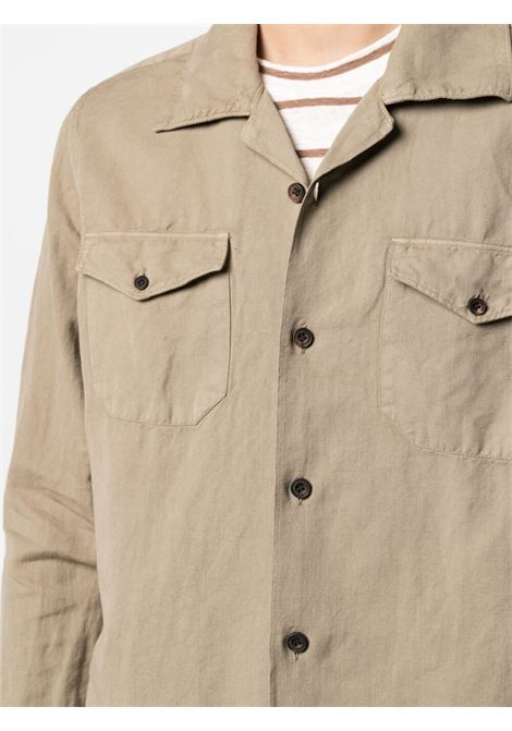 Khaki-beige cotton long-sleeved cotton shirt  ELEVENTY |  | C75CAMC05-TES0C01202