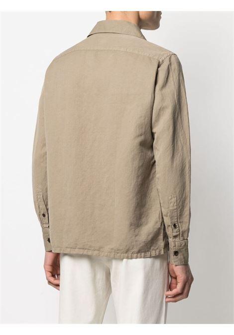 Camicia in cotone a maniche lunghe in cotone kaki-beige ELEVENTY | Camicie | C75CAMC05-TES0C01202